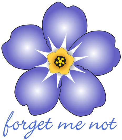 clip art forget me not flower - photo #33