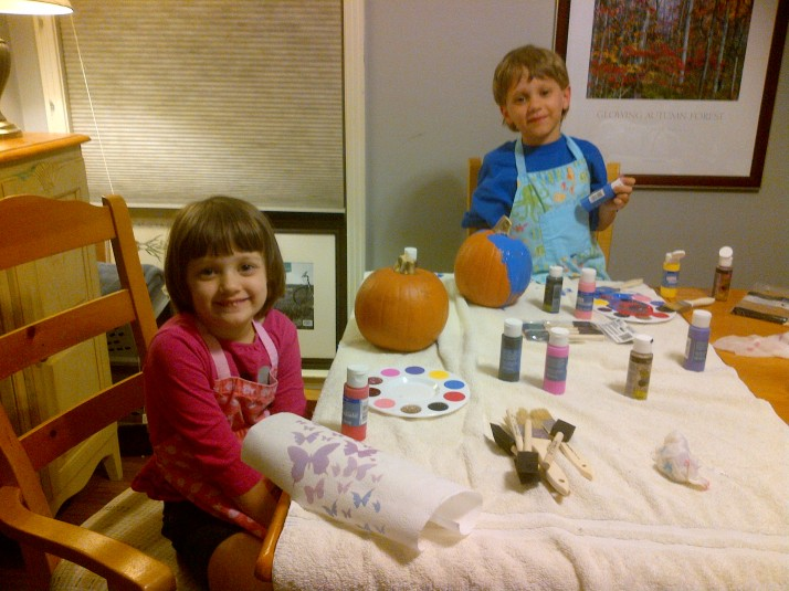 Kids Pumpkin Painting 2013 2