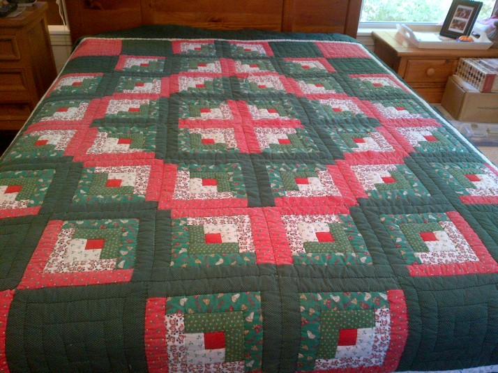 Christmas Log Cabin 1